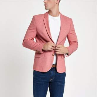 River Island Pink muscle fit blazer