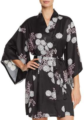 Josie Freestyle Floral Print Satin Short Robe 4f55d5d48