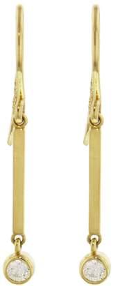 Jennifer Meyer Diamond Mini Stick Drop Earrings - Yellow Gold