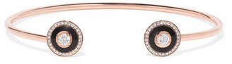 Selim Mouzannar Mina 18-karat Rose Gold, Enamel And Diamond Cuff