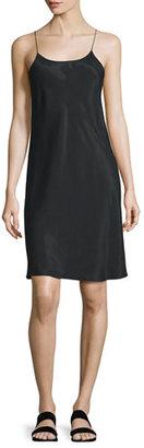 Helmut Lang Sleeveless Voile Slip Dress, Black $495 thestylecure.com
