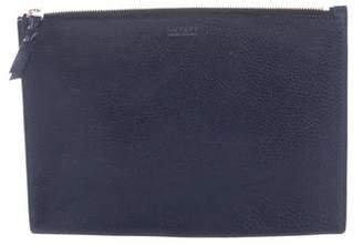 Lotuff Leather Grained Leather Zip Pouch w/ Tags