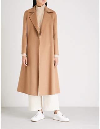 Max Mara Viadana wrap-over camel hair coat