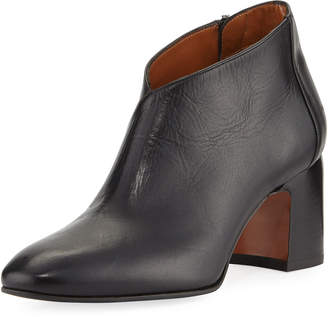 Aquatalia Elodina Leather Block-Heel Boot