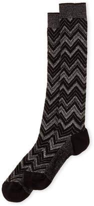 Missoni Lurex Chevron Knee Socks