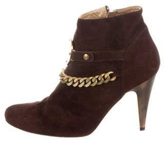 Just Cavalli Chain-Link Ankle Boots