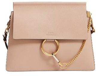 Chloe Faye Goatskin Leather Shoulder Bag - Beige $2,050 thestylecure.com