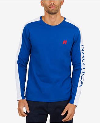 Nautica Men's Graphic-Print Long-Sleeve Shirt