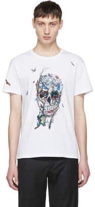Alexander McQueen White Tree of Life Skull Shirt
