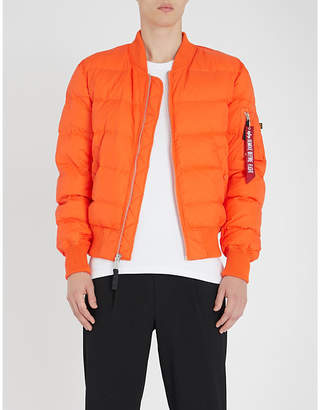 Alpha Industries MA-1 quilted shell down bomber jacket