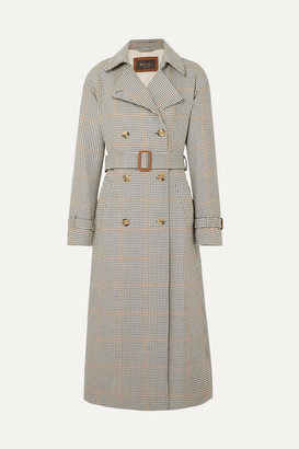Loro Piana Houndstooth Wool Trench Coat - Neutral