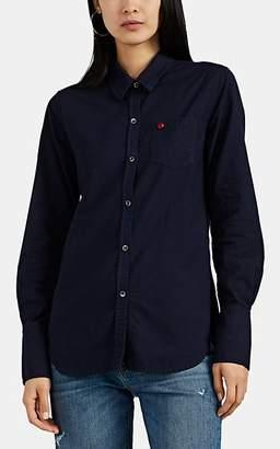 Alex Mill Women's Oxford Button-Front Blouse - Navy