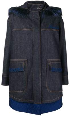 Fendi layered hem parka coat