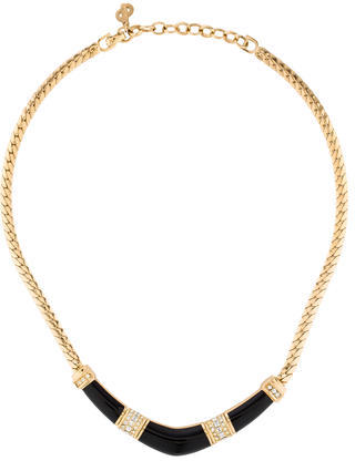 Christian Dior  Christian Dior Crystal & Resin Collar Necklace
