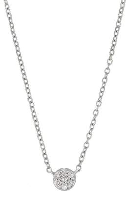 Carriere Sterling Silver Diamond Round Pendant Necklace - 0.05 ctw