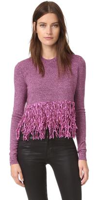 McQ - Alexander McQueen Fringe Sweater $380 thestylecure.com