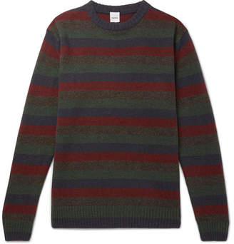Aspesi Slim-Fit Striped Yak And Wool-Blend Sweater