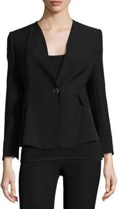 Armani Collezioni Techno Cady One-Button Jacket, Black