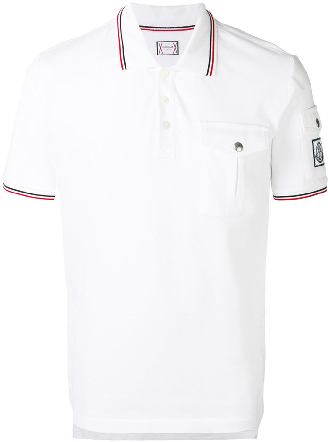 Moncler Gamme Bleu contrast piping polo shirt