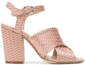 Strategia ankle strap peep toe sandals