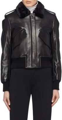 Alexander Wang Cropped lambskin shearling jacket
