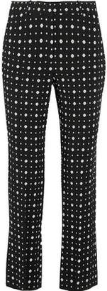 Givenchy Slim-Leg Pants In Printed Stretch-Crepe
