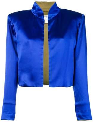 Saint Laurent Pre-Owned 1980's satin mandarin collar jacket