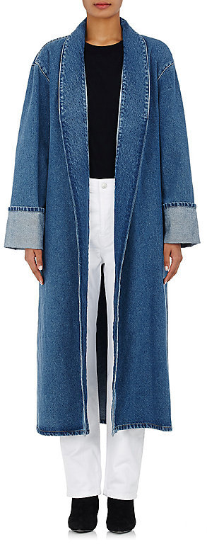 Balenciaga  Balenciaga Women's Denim Robe Coat-Blue