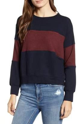Sundry Colorblock Crop Sweatshirt