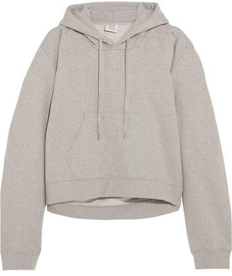 Vetements - Printed Cotton-blend Jersey Hooded Top - Light gray $920 thestylecure.com