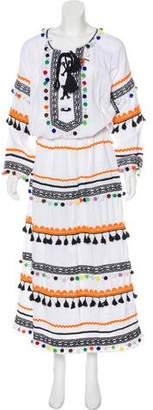 Dodo Bar Or Pom-Pom Maxi Dress w/ Tags