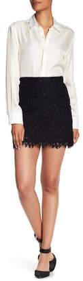 Veronica Beard Addison Patch Pocket Lace Skirt