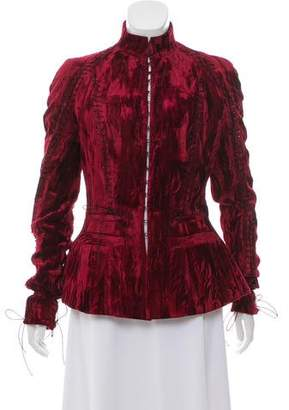 Haider Ackermann Velour Peplum Jacket w/ Tags