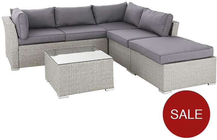 Athens 4-Piece Corner Set With Table And Chaise