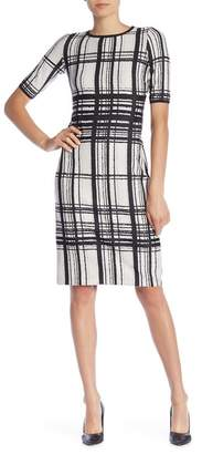 Taylor Plaid Short Sleeve Midi Dress