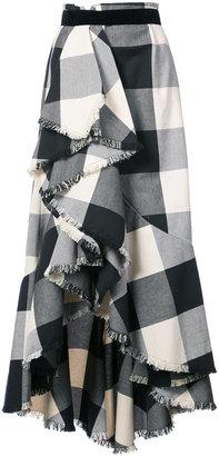 Johanna Ortiz Bosque plaid ruffle skirt