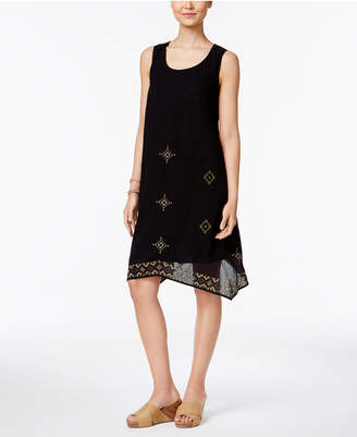 Style & Co Elle Embroidered Shift Dress, Created for Macy's $69.50 thestylecure.com