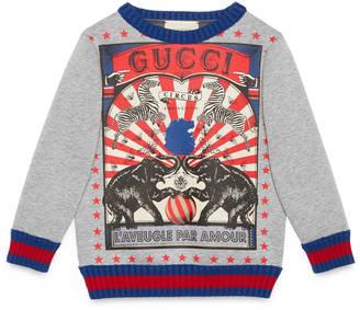 Children's circus print sweatshirt $290 thestylecure.com