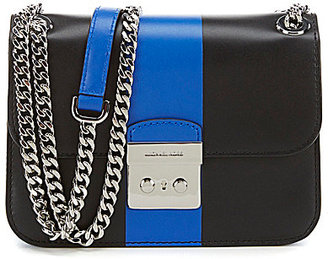 MICHAEL Michael Kors Sloan Edit Colorblocked Chain-Strap Cross-Body Bag $278 thestylecure.com