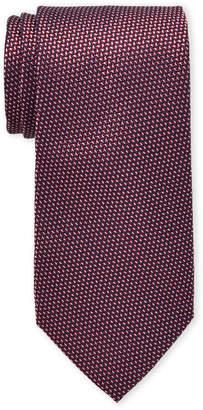MICHAEL Michael Kors Red Diagonal Geometric Tie
