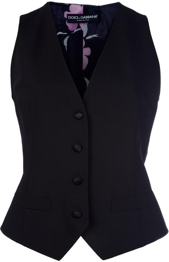 Dolce & Gabbana Silk panel waistcoat