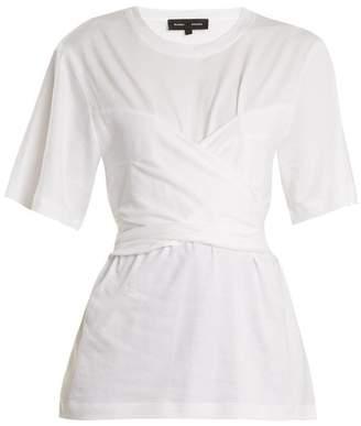 Proenza Schouler Wrap Style Cotton Jersey T Shirt - Womens - White