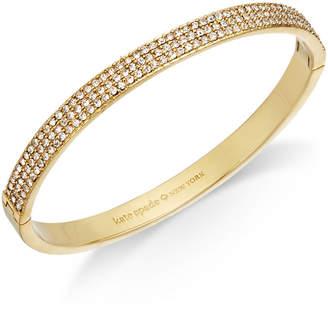 Kate Spade Gold-Tone Pavé Bangle Bracelet