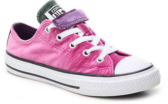 Converse Chuck Taylor All Star Double Tongue Velvet Toddler & Youth Sneaker - Girl's