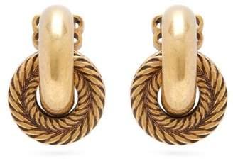 Balenciaga Rope Chain Hoop Earrings - Womens - Gold