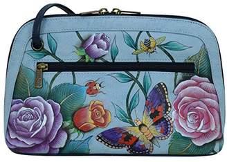 Anuschka Women's Genuine Leather Zip Bag | Hand Painted Original Artwork | Multi Compartment All Round Zip |