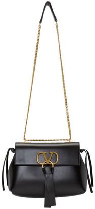 Valentino Black Garavani Small VRing Chain Shoulder Bag