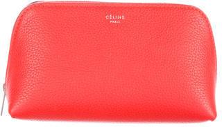 CelineCéline Leather Cosmetic Bag