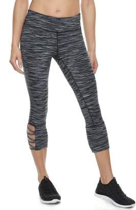 Tek Gear Women's Lattice Hem Capri Leggings