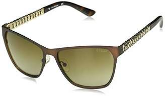 GUESS Women's Metal Square Sunglasses